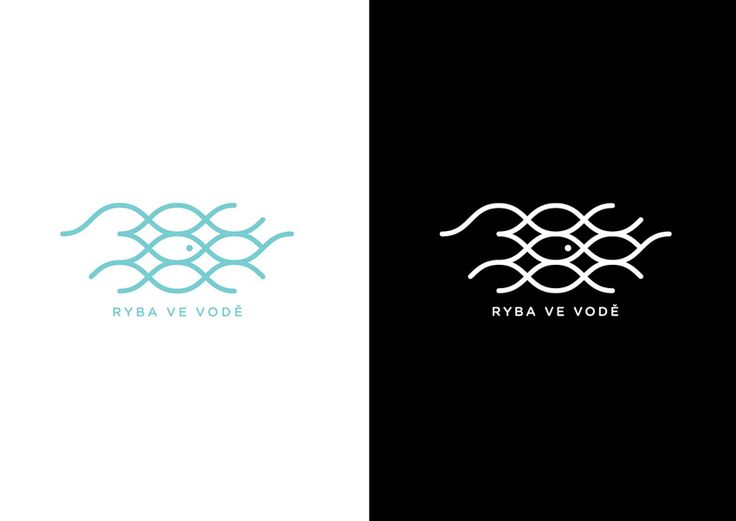 Ryba ve vodě (A Fish in the Water) | Logo for online community of mothers with small children.