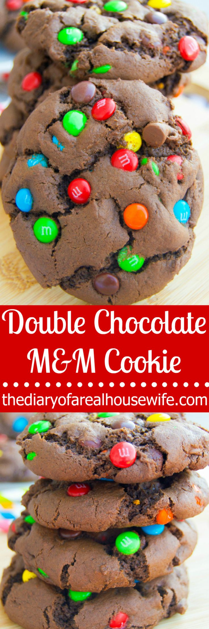 I may be bold and just say it.. this is the BEST cookie recipe!! Okay I am a big time chocolate and M&M fan but still it was so good!! Adding this recipe to my list of Christmas cookies this year. Double Chocolate M&M Cookie.