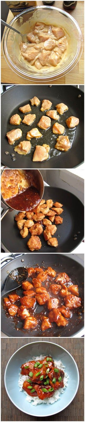 general tso's chicken. This was a great alternative to take-out and I preferred the ratio of chicken to breading a lot more. Leaves your kitchen smelling like a Chinese restaurant but well worth it!