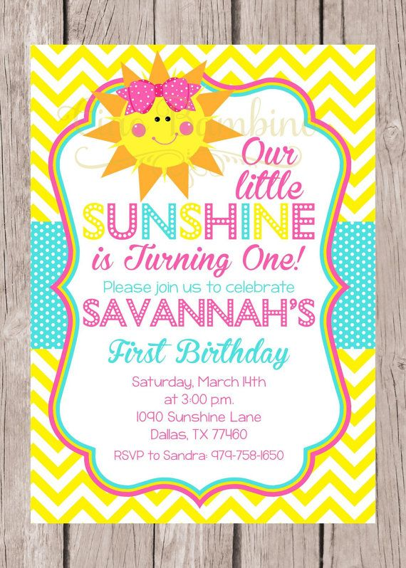 You Are My Sunshine Birthday Party Favor Tags or by ciaobambino