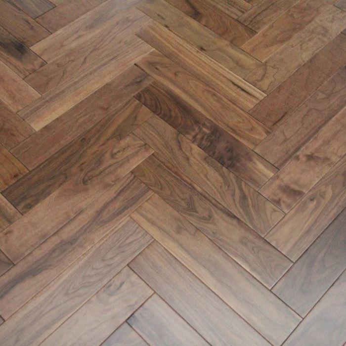French Chevron Oak parquet hardwood flooring Dark Brown Vintage Antique Prime