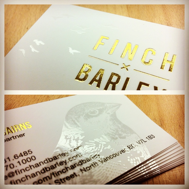 86 best business cards by clubcard images on pinterest finch x barley cards gold foil stamp and spot uv gloss reheart Images