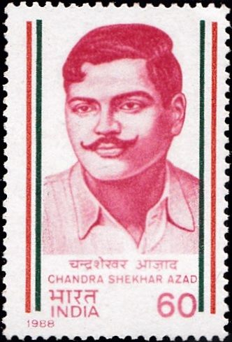 1122-chandra-shekhar-azad-india-stamp-1988