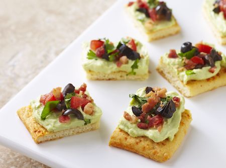 Festive Fiesta Bites with guacamole and cream cheese #bitesize