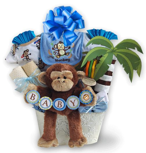 40 best baby gift baskets toronto images on pinterest baby gift 6000 blue personalized baby monkey gift basket toronto canada negle Image collections