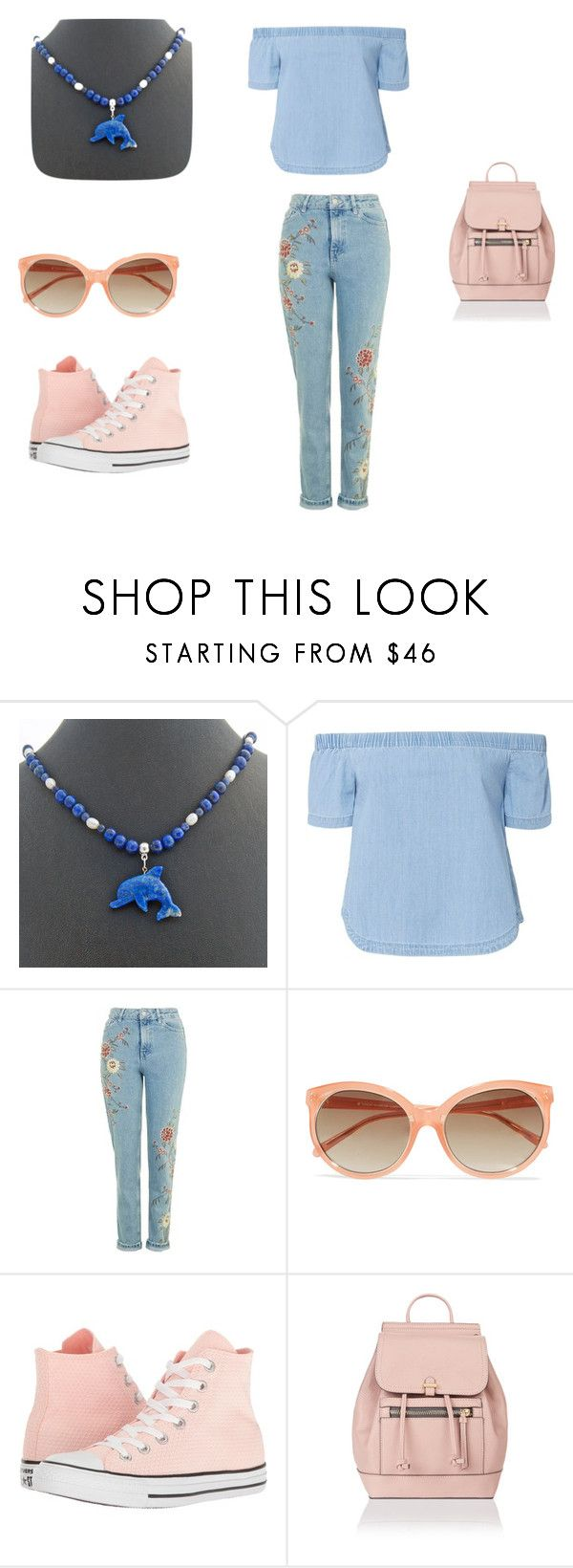 Spring beach time by rivendellrockjewelry on Polyvore featuring 3x1, Converse, Accessorize and Linda Farrow