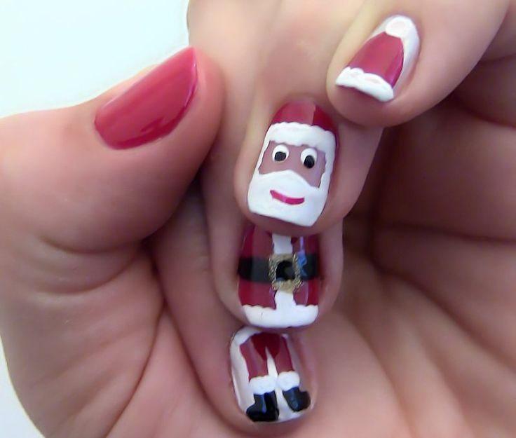 Santa Hat Nails Art, Santa Hats Nail art is quite unique and looks awesome  in Christmas festivals and best stylish Santa Hat Nails Art design ideas - 51 Best Nail Designs Latest Images On Pinterest Make Up, Toe