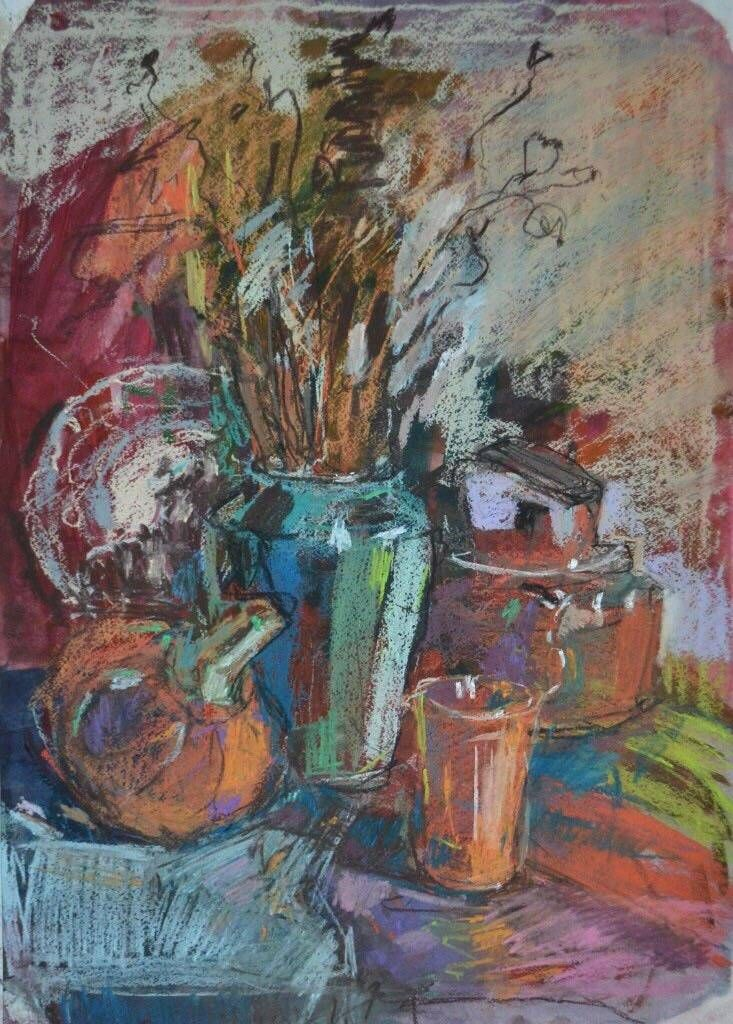Осенний натюрморт, 2013, гуашь, пастель