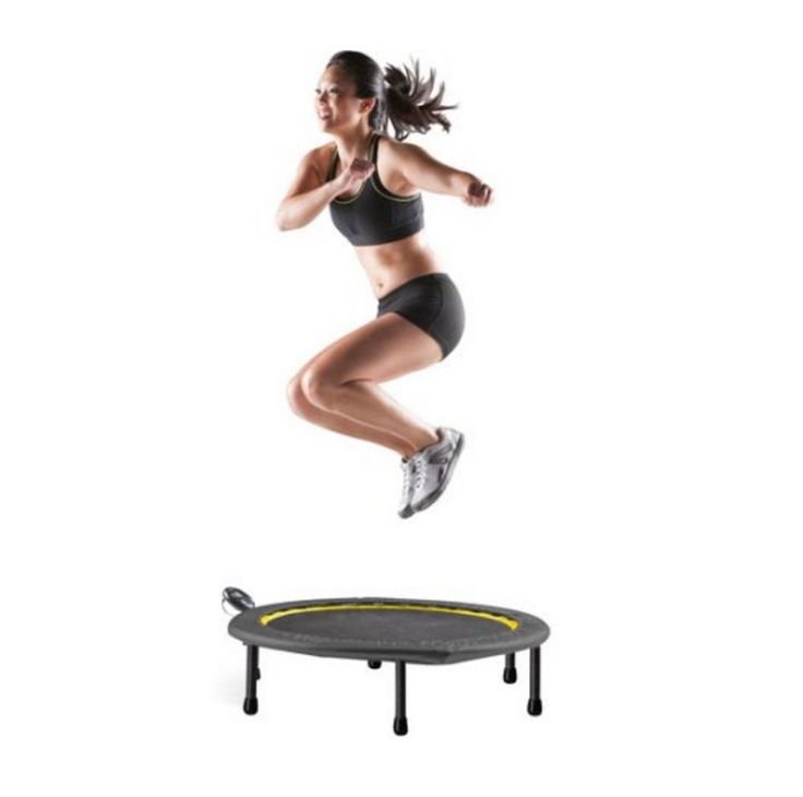 Fitness Trampoline For Adults Personal Mini Indoor Workout Jump Cardio Equipment #GoldsGym