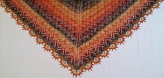 Hand made shawl at LARKASTYLE Etsy store #Hand knitted Lace Shawl #Scarf #Wrap Poncho #Wedding accessories #Women's gifts #Birthday gift #Gift for mom #Evening Vacation knitwear# #Nature of the Things#Luxurious Knitwear#Burgundy#Orange#Seasons#Autumn