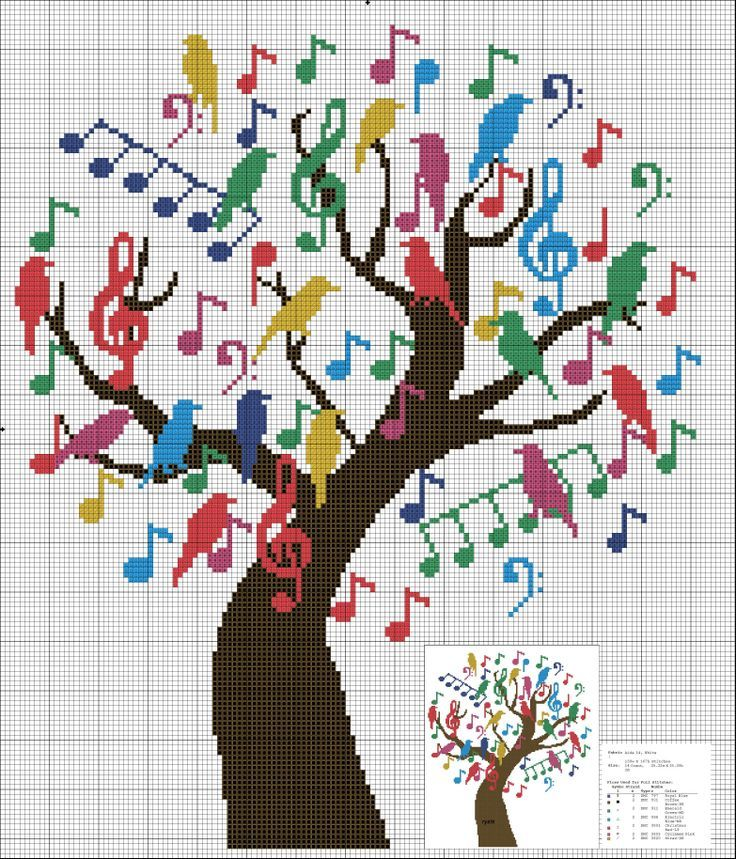 """Singing"" tree- has color chart but it is too small to read so be creative"