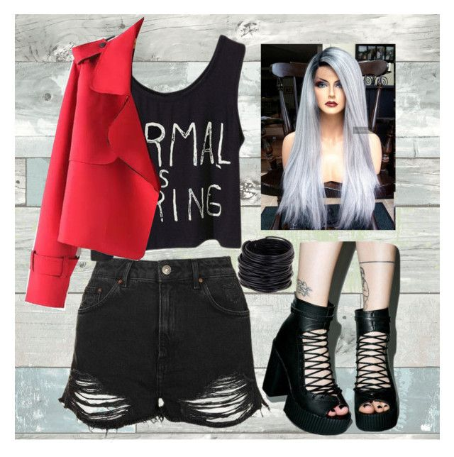 """""""#bandentry"""" by miah-belmonte on Polyvore featuring WallPops, T.U.K., Topshop and Saachi"""