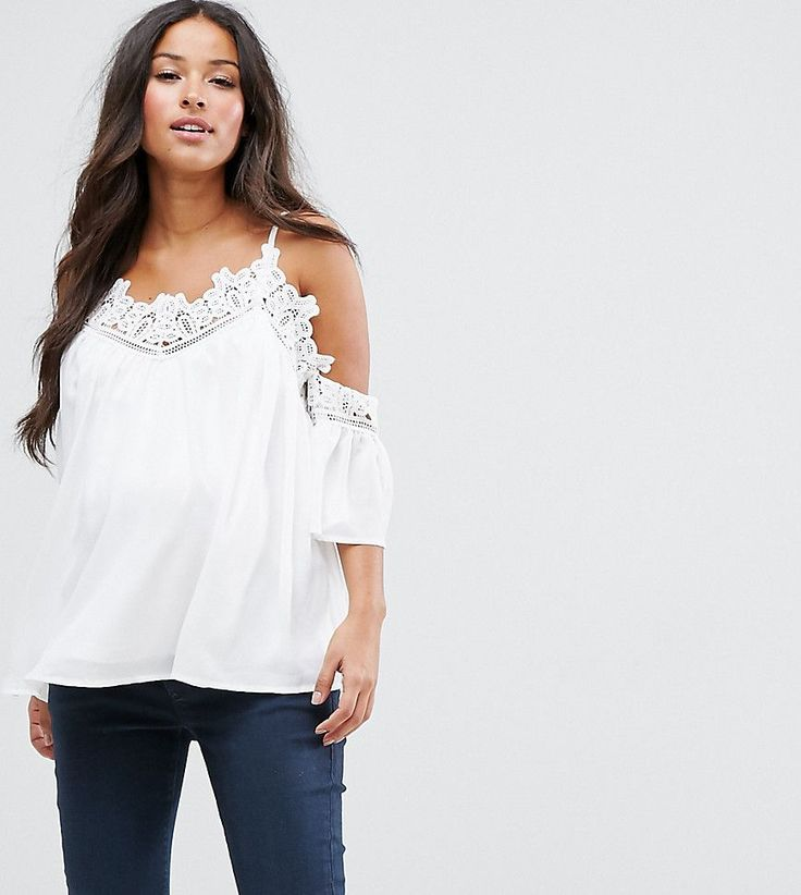 New Look Maternity Cami Top - White