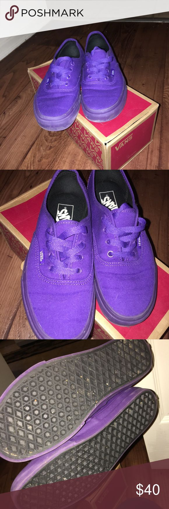 Purple Vans Only worn about 3x. I don't use so I want gone Vans Shoes