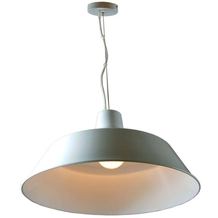 lampara de techo campana metlica blanca daties ideal para la iluminacin de salones y
