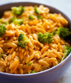 """Cheezy"" Broccoli OrzoCheezy Broccoli, Fun Recipe, Vegan Recipe, Cheesy Broccoli, Vegan Cooking For Kids, Vegan Baking, Vegan Dinner For Kids, Vegan Cookbooks, Broccoli Orzo"