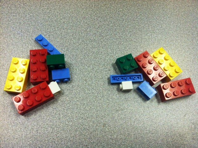 Working Together With Legos -- Group activity on cooperation.  Describing to another what you are building.  Reccommended for 4th grade & up.