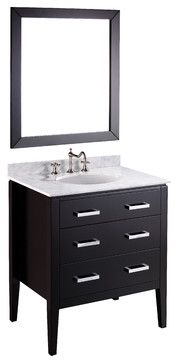 SB-260 Single Vanity Set with Mirror - contemporary - bathroom vanities and sink consoles - Bosconi Wholesale Bathroom Vanities