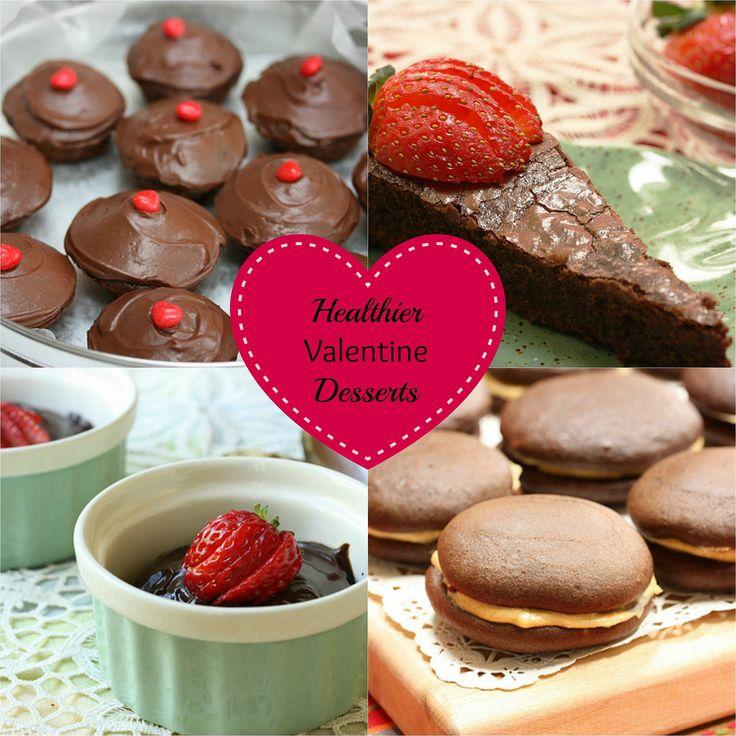 healthier valentine chocolate desserts via mealmakeovermomscomkitchen - Healthy Valentine Desserts