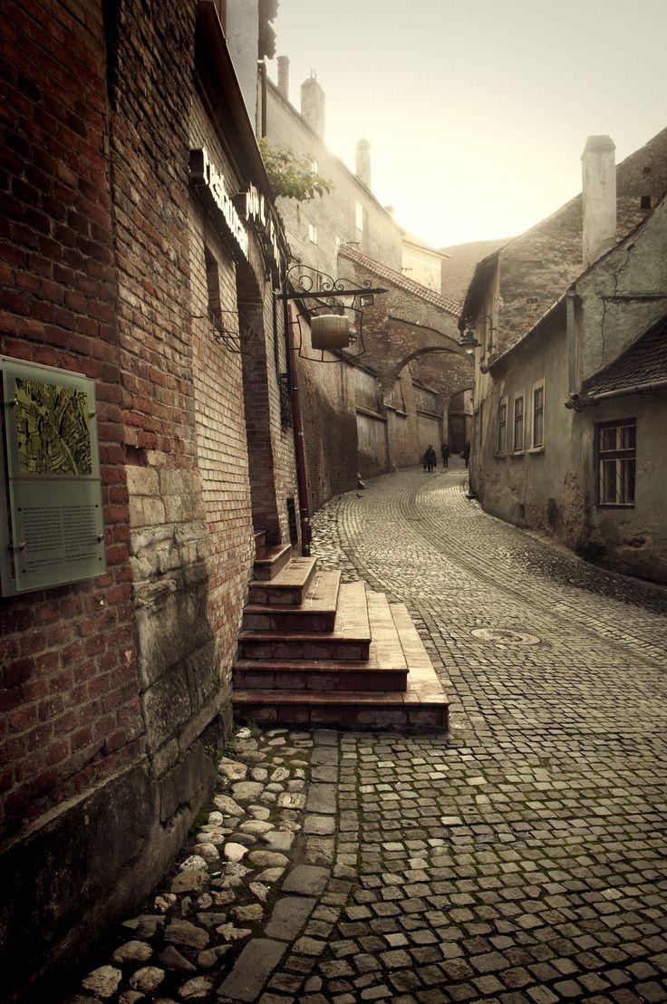 Old street, Sibiu city, Transylvania, www.romaniasfriends.com