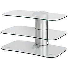 """Buy Off The Wall Skyline ARC800 Silver TV Stand for Curved Screen TVs up to 55"""" Online at johnlewis.com"""