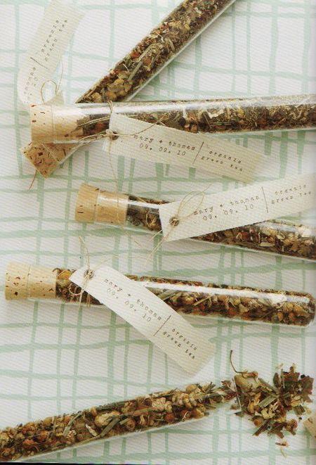 Homemade tea vials