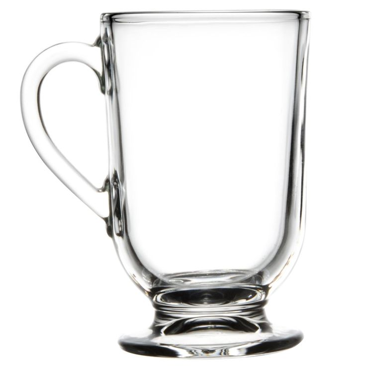 Libbey Clear Glass Coffee Mugs