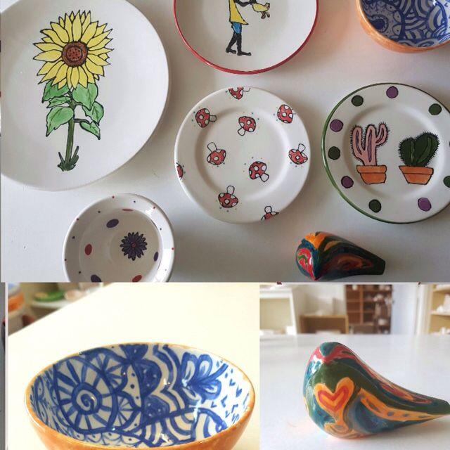 Painted at Paint & Create Ceramic Painting - Ceramic art studio in Meadowbank Auckland