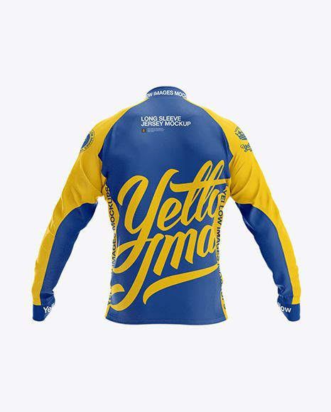 Download Download Long Sleeve Jersey PSD Mockup Back ViewTemplate ...