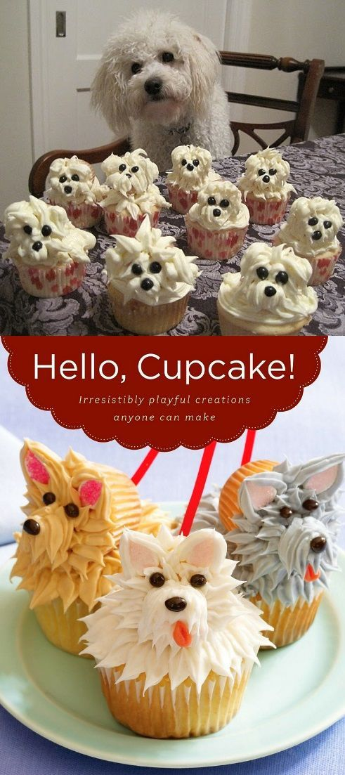 Adorable Puppy Cupcakes - Recipe // Baking change in the lives of Canadian animals! Raise funds for animals in need - Register as a host and celebrate on February 26, 2018! www.nationalcupcakeday.ca
