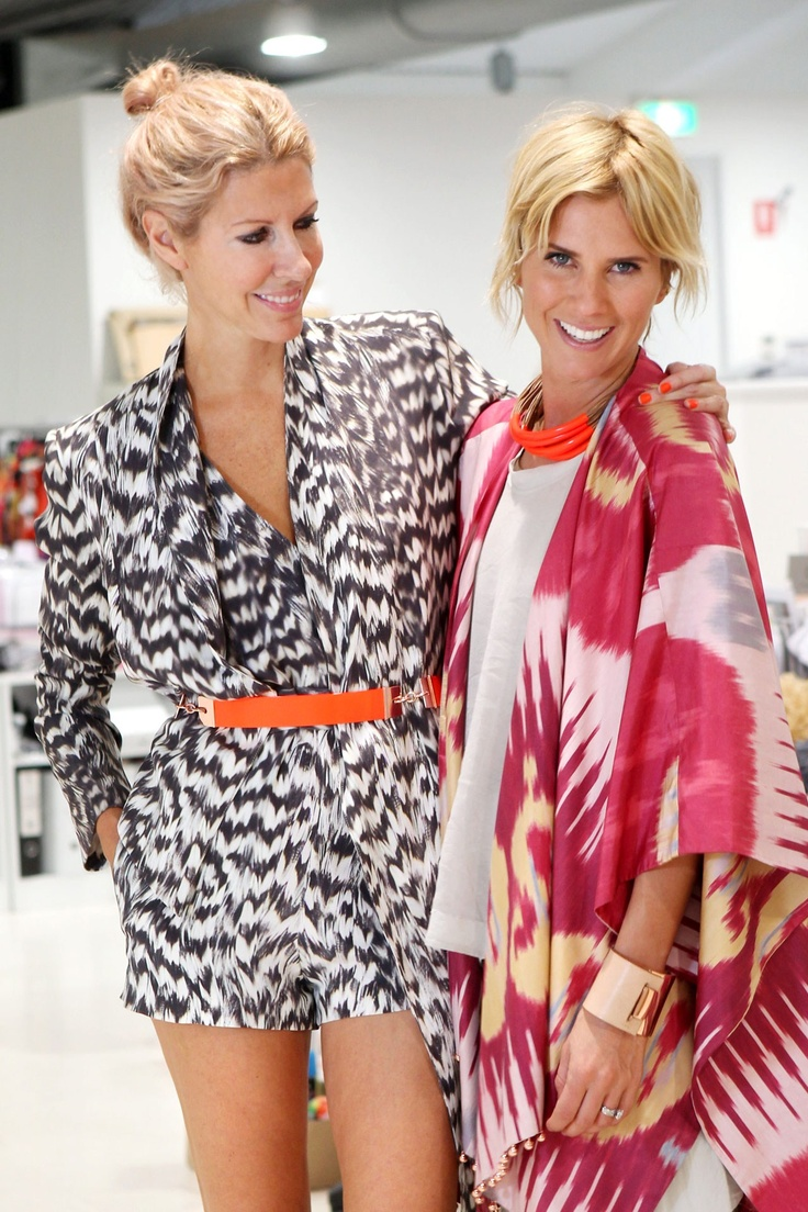 Sass & Bide's Sarah-Jane Clarke and Heidi Middleton Photo By Rex Features