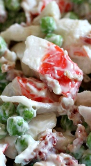 Crab, Pea, & Bacon Salad