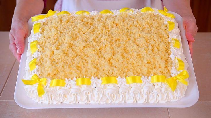 TORTA MIMOSA Ricetta Speciale Dedicata alle Donne - Italian Mimosa Cake ...