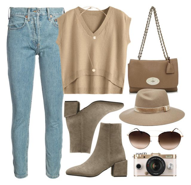 """""""Earth Tones"""" by monmondefou ❤ liked on Polyvore featuring RE/DONE, Mulberry, rag & bone, Giorgio Armani, Urban Outfitters and beige"""