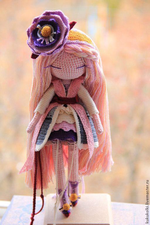 Купить Девушка-Цветок - фиалка, лаванда, фиолетовый, цветок, шляпка с цветами, шляпка