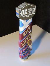 NEW Four Peaks Kilt Lifter Scottish Beer Tap Handle Keg Brewing Bar Tilted Plaid