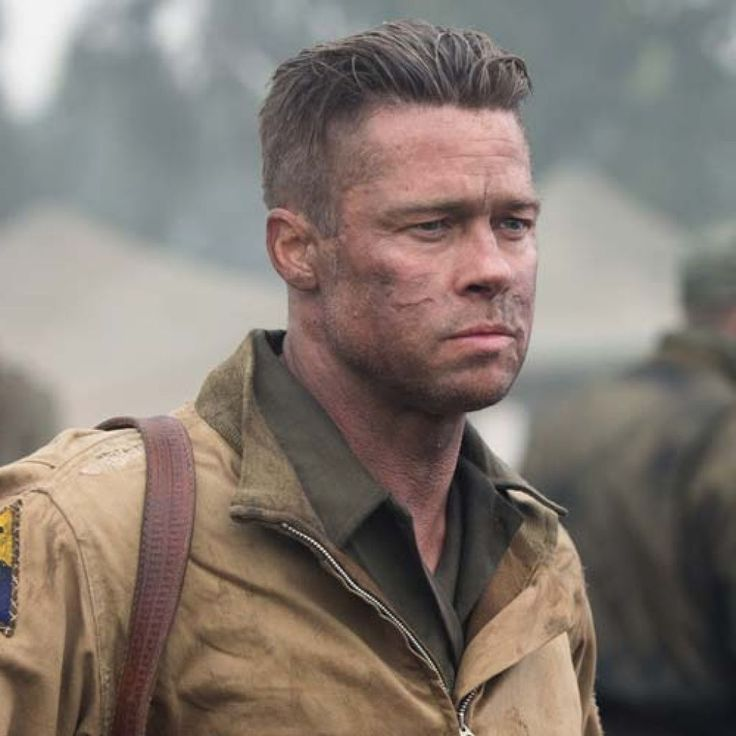 brad pitt fury hair - photo #22