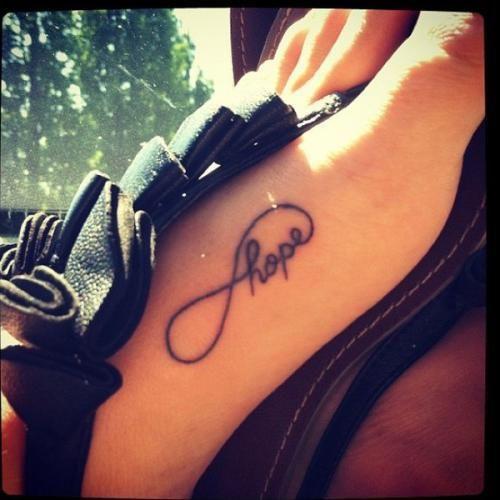 infinity hope tattoo <3