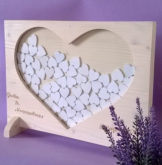 Wedding guest book wedding dropbox by MacchiavelliArtLegno on Etsy