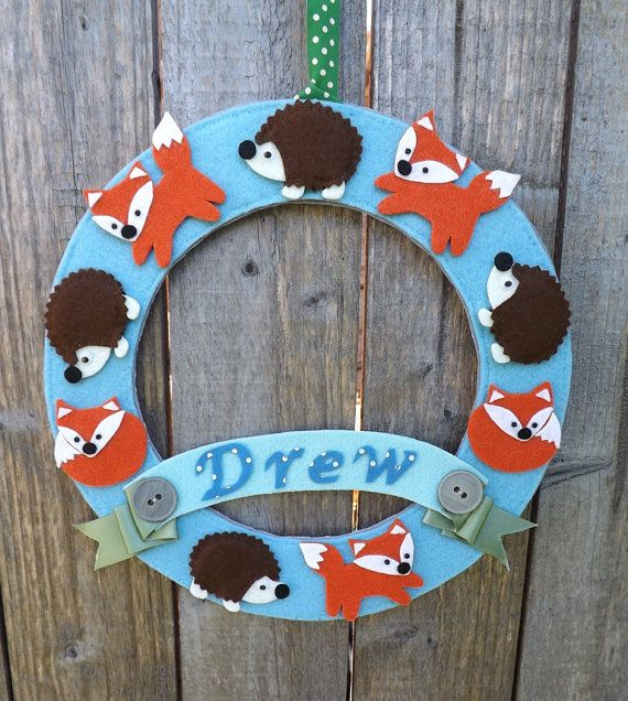 Nursery Wreath, Personalised Baby Wreath, Baby Shower Wreath, Nursery Decor, Baby Shower Gift, New Baby Gift, Door Wreath baby, Baby Naming