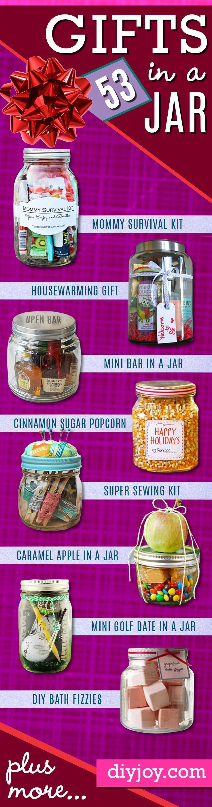 Best Homemade DIY Gifts in A Jar | Best Mason Jar Cookie Mixes and Recipes, Alcohol Mixers | Fun Gift Ideas for Men, Women, Teens, Kids, Teacher, Mom. Christmas, Holiday, Birthday and Easy Last Minute Gifts diyjoy.com∕...