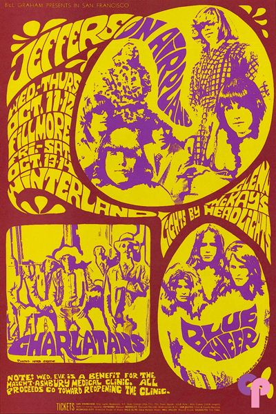 Jefferson Airplane at Fillmore Auditorium 10/11-12/67 Winterland 11/13-14/67 by Bonnie MacLean &   Herb Greene
