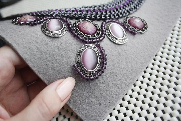 "How to: necklace ""Violet dreams""; designed to make an adult's necklace I think it would be a cute idea with inexpensive beads for child's dress-up or other costume occasion."