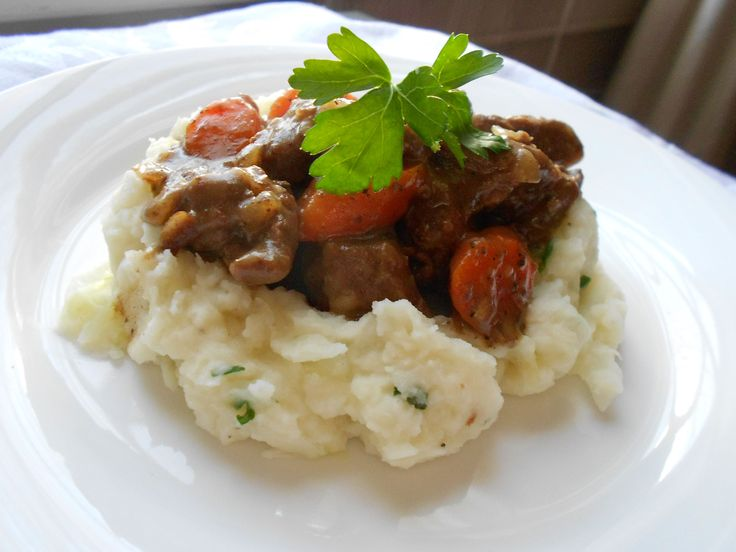 Beer braised beef stew with colcannon @ http://allrecipes.co.uk