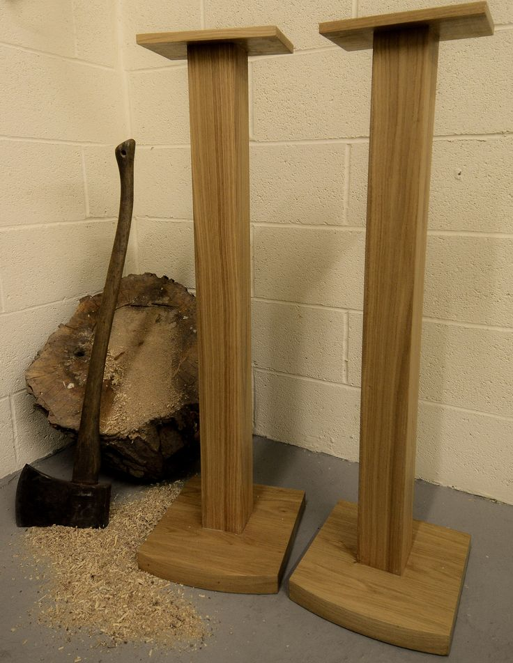 Oak speaker stands -   Made to order, from solid prime grade European oak.