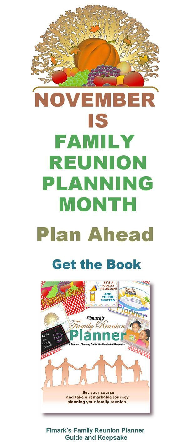 18 Best The Family Reunion Planner Images On Pinterest