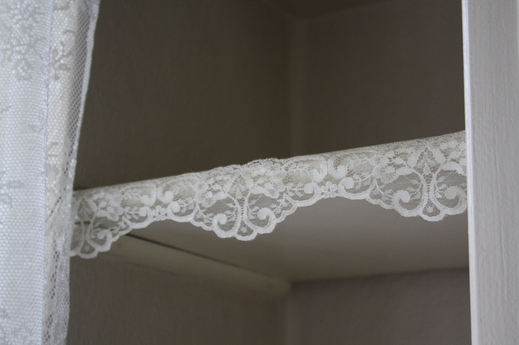 Lace on a boring shelf ind my kitchen