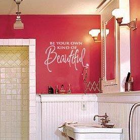 wall vinyl for girls bathroom.  perfect.