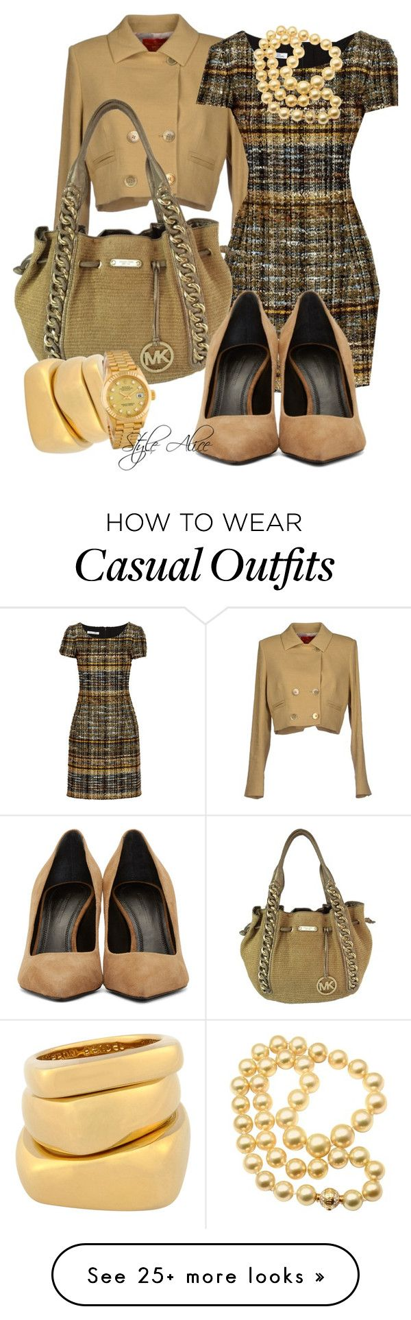 """Casual"" by alice-fortuna on Polyvore featuring Vivienne Westwood Red Label, Oscar de la Renta, Mikimoto, MICHAEL Michael Kors, Henri Bendel, Rolex and Alexander Wang"
