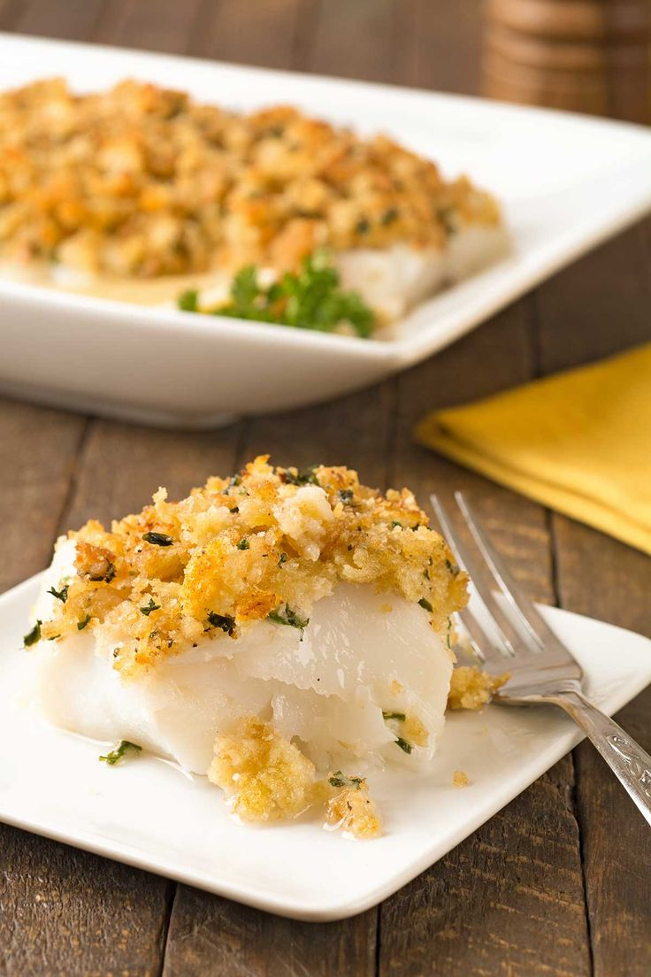 Baked Stuffed Cod: This foolproof recipe for cod fillets topped with a buttery blend of fresh breadcrumbs, garlic and parsley is easy to make and sure to become a family favorite.